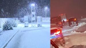 南加州圣诞假日交通瘫痪?!居民雨雪中过节
