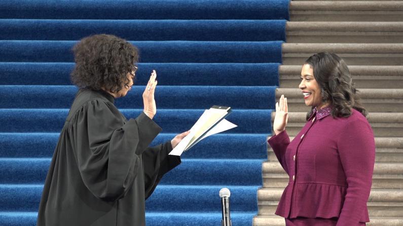 细数过去十年成就 旧金山市长布里德宣誓就职