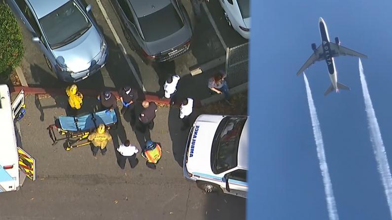 洛杉矶飞上海航班因故障返航倾倒燃油 致小学23人受伤