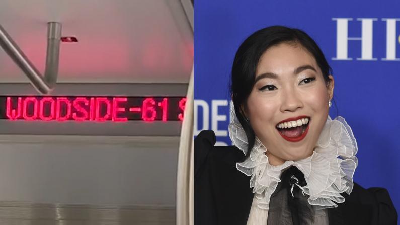 金球奖亚裔影后给纽约地铁报站? 听听她到底说了什么