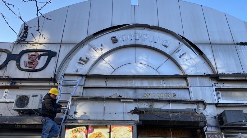 招牌砸死人纽约法拉盛黄金商场整顿 房东已请律师