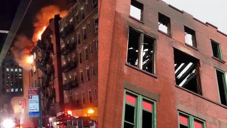 纽约华埠5级大火 8.5万件华人博物馆藏恐毁