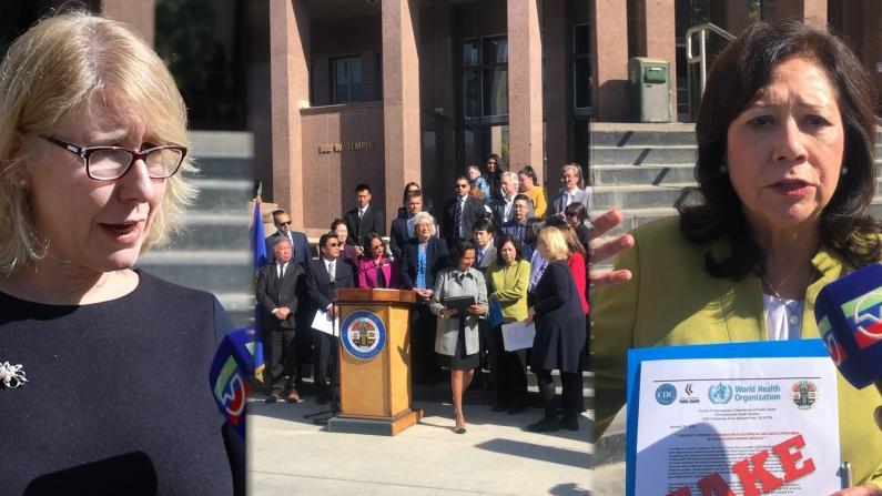 """""""流行病是全人类的悲剧!"""" 洛杉矶郡政府与亚太裔各界举行反歧视倡议会"""