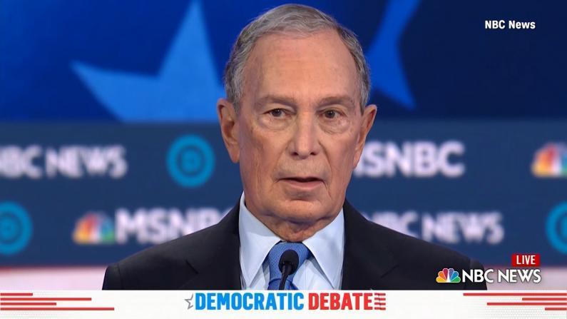 彭博首登民主党辩论台 遭对手轮番攻击