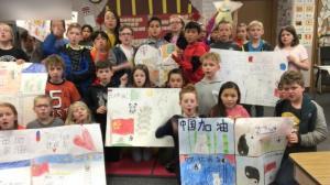 给习近平送新年贺卡的这个美国小学 用歌声为武汉加油