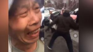 """旧金山亚裔老人捡瓶罐被打哭 非裔青年大喊""""我恨亚裔"""""""