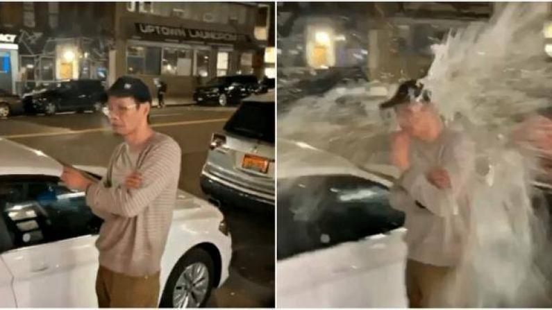 亚裔男子街头被泼水 疑因新冠疫情遭歧视