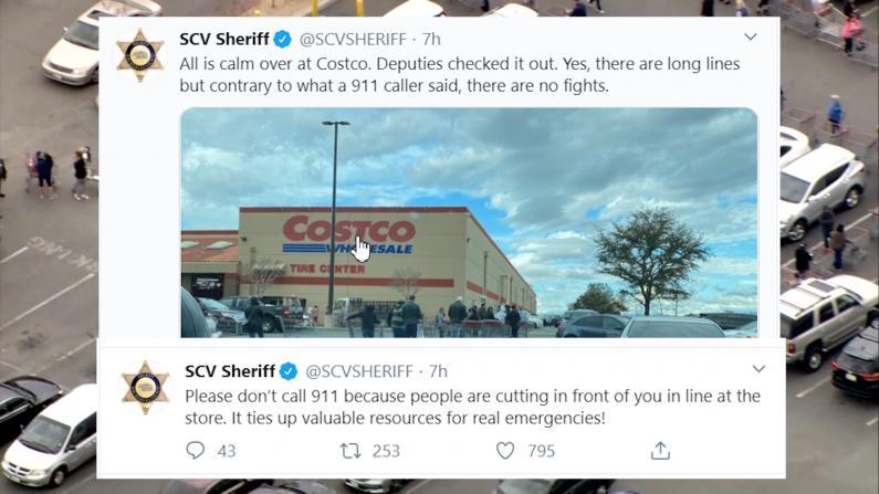 超市排队抢购纠纷打911? 南加警察无奈两次发推提醒勿占资源