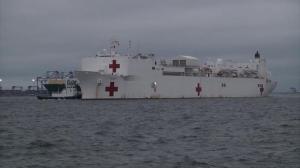 美军动用两艘大型医疗舰 分派东西两岸