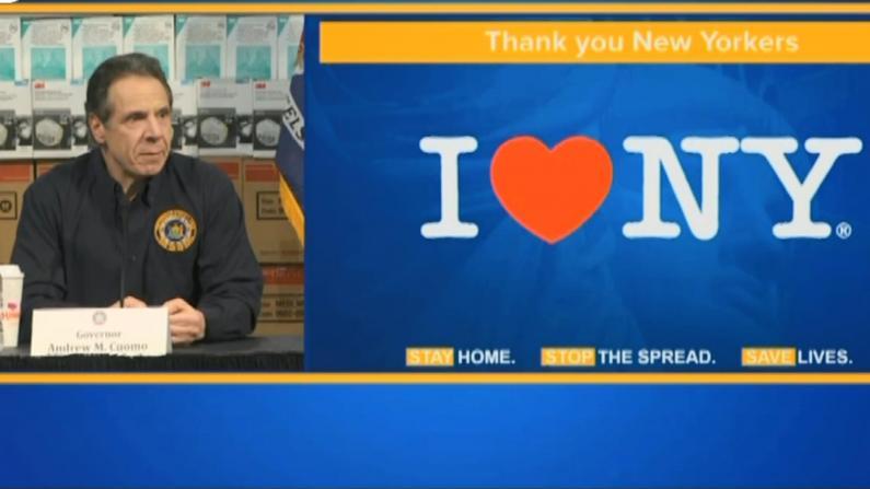 面对疫情州长哽咽泪目:我爱纽约 纽约也爱我们
