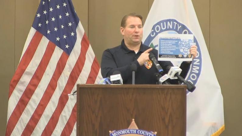 新州确诊数量前三郡求援 Monmouth郡警长:防疫物资不够用了