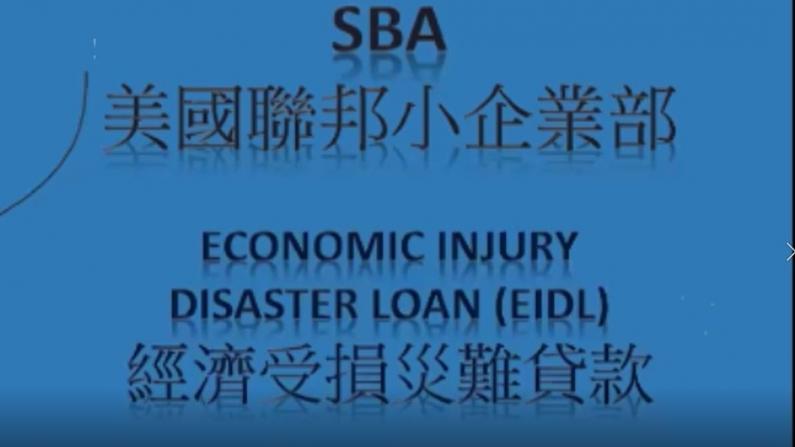 【全程】小商业申请联邦经济受损灾难贷款中文网课
