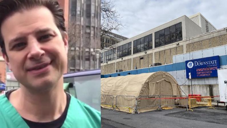 一天涌入过百病人 实拍纽约市新冠专门医院急诊室