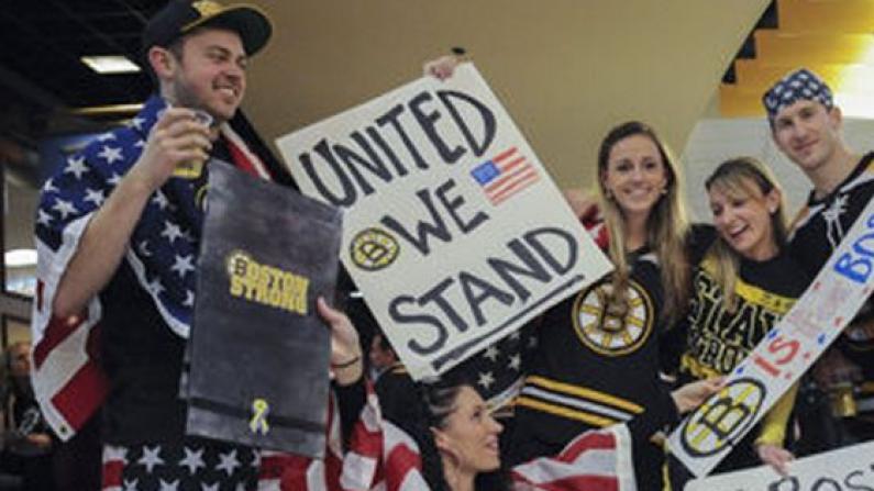 冰球赛振奋人心 波士顿逐渐恢复正常