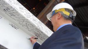 中国国侨办捐资10万 旧金山百年华人医院扩建顺利封顶