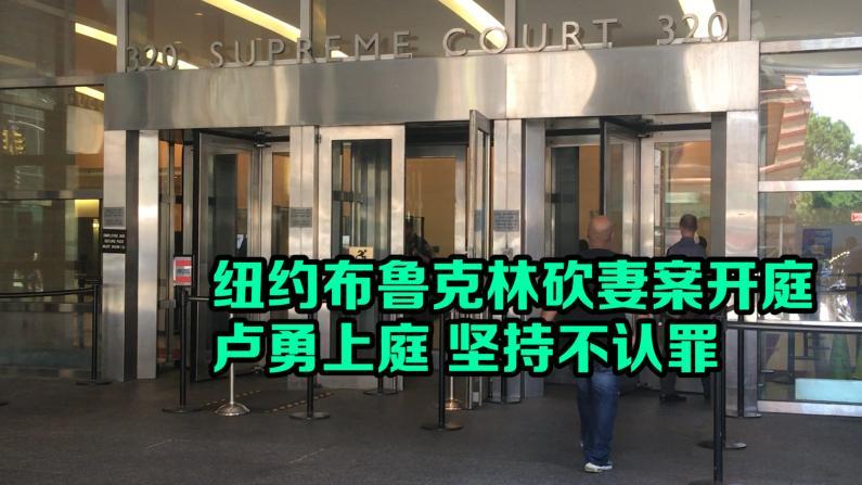 纽约布鲁克林砍妻案开庭  卢勇上庭 坚持不认罪