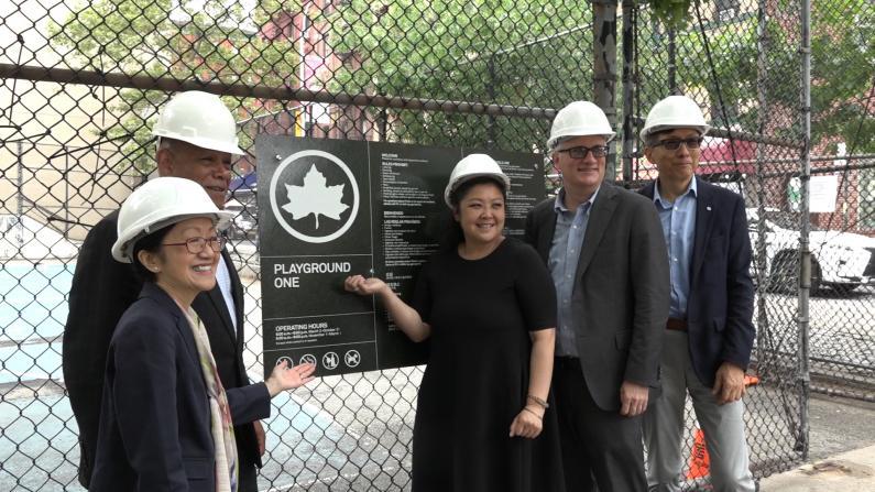 华埠民众的避暑首选地 纽约曼哈顿1号公园迎翻新
