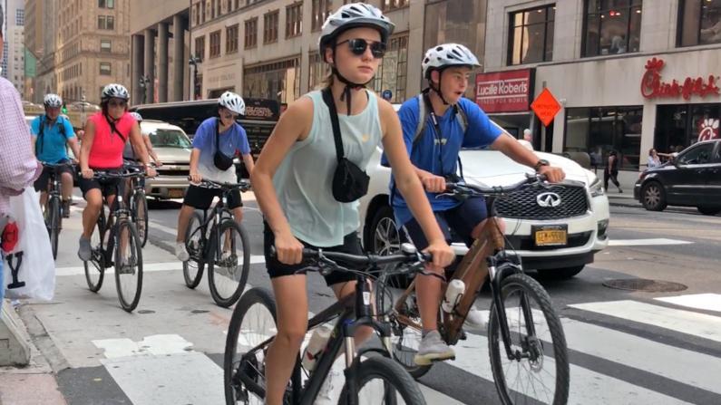 纽约市最新通勤报告出炉 民众弃公交地铁改骑单车