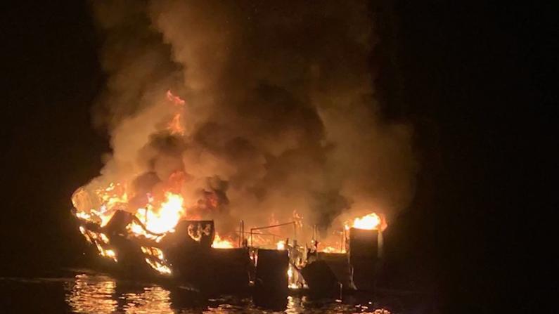 劳工节噩梦!潜水船加州海岸起火30多人陷火海