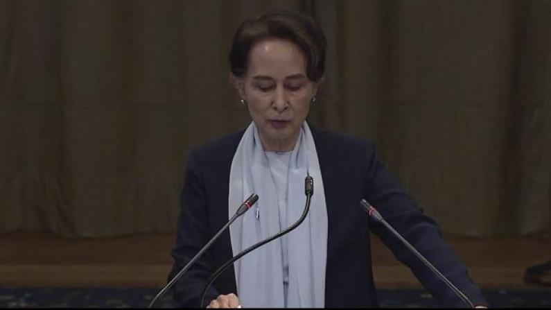 昂山素季国际法庭亮相 为缅甸政府辩护