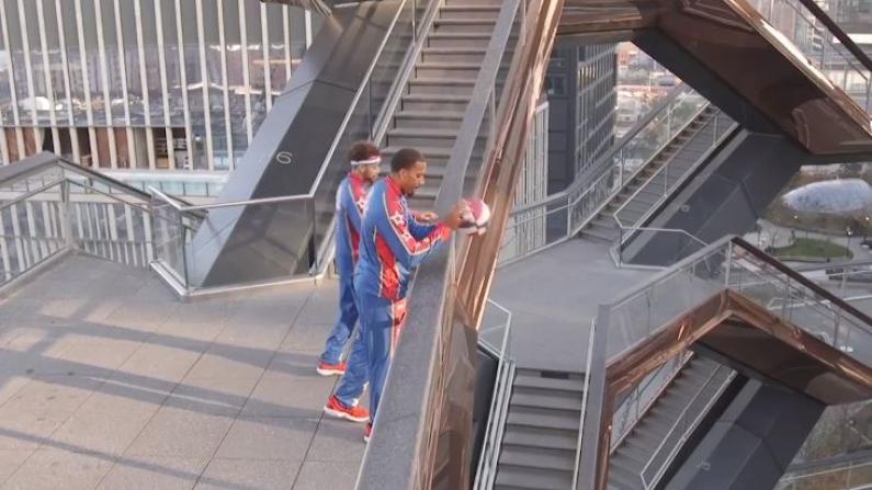 纽约Hudson Yards网红打卡地变身立体篮球场!