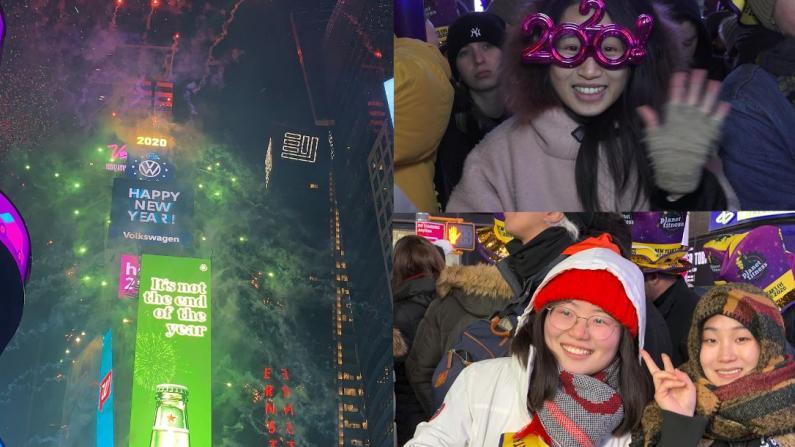 百万人纽约时报广场迎2020 中国元素受瞩目