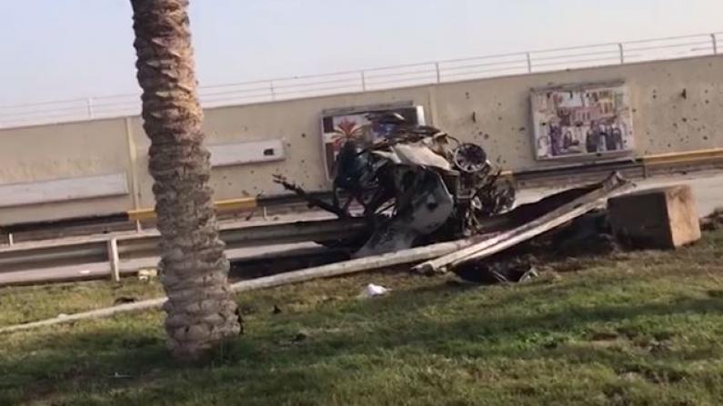 【现场】伊朗高官被美空袭炸死:座车被撕成碎片
