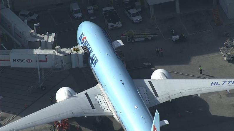 机上有3人去过中国 大韩航班改飞洛杉矶接受检查