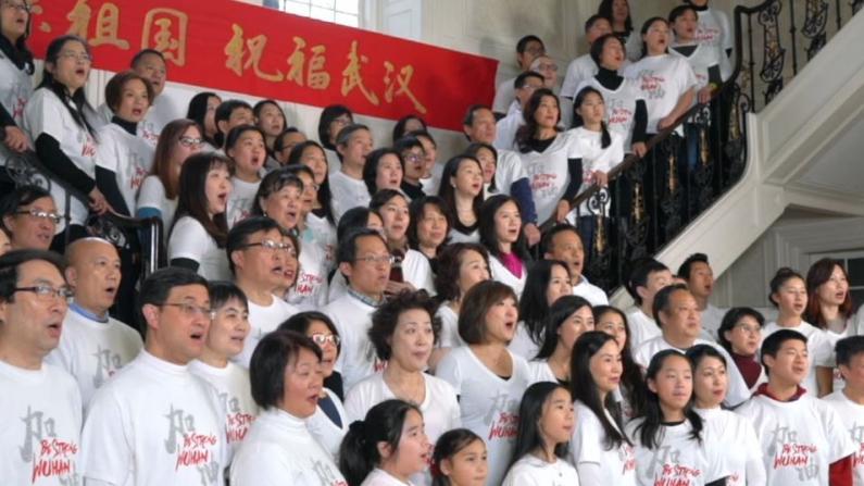 """情系祖籍国 波士顿华人同唱《世界充满爱》共援抗""""疫"""""""