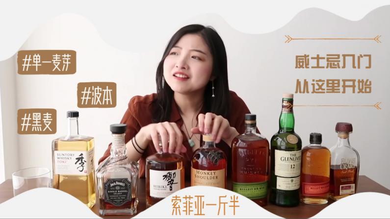 【索菲亚一斤半】威士忌怎么入门?教你分清单一麦芽波本黑麦!