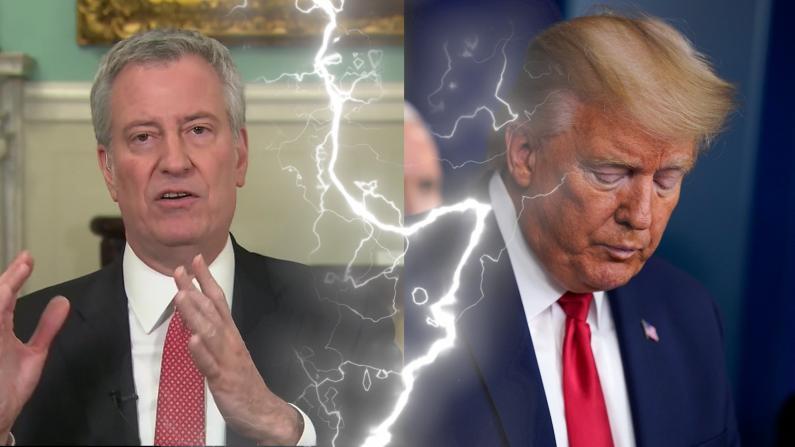 """纽约市长大骂川普""""背叛故乡""""然而州长……"""