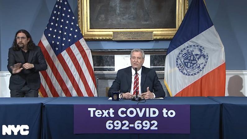 纽约市确诊近1万 白思豪:不遵守新规 这些我也要关