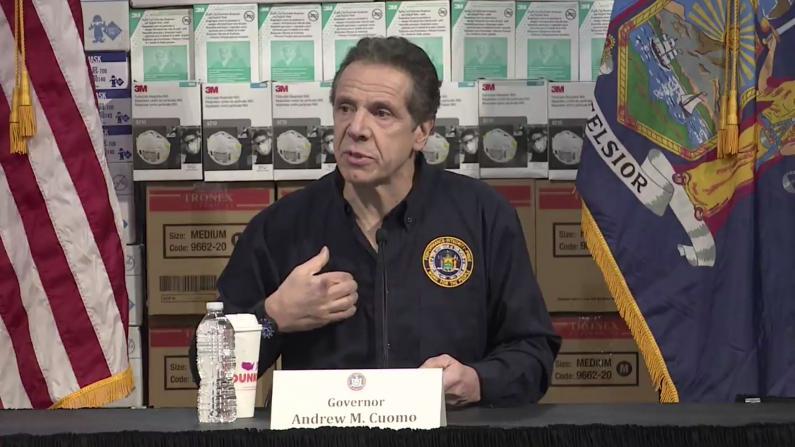 """""""真要见死不救吗!""""纽约州长公布最新数据求救联邦"""