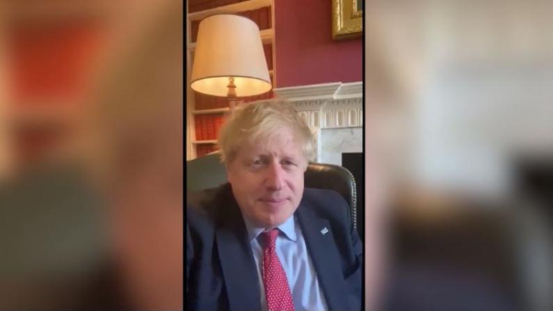约翰逊发视频 确认自己确诊新冠