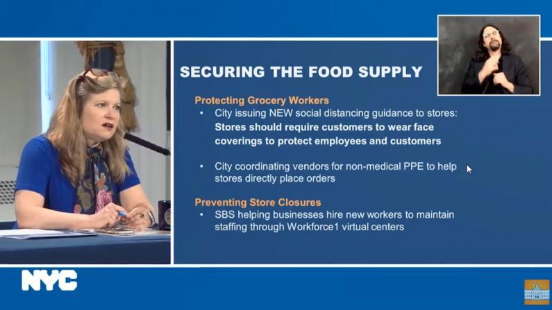 纽约市府出手解决食物及超市关门等问题