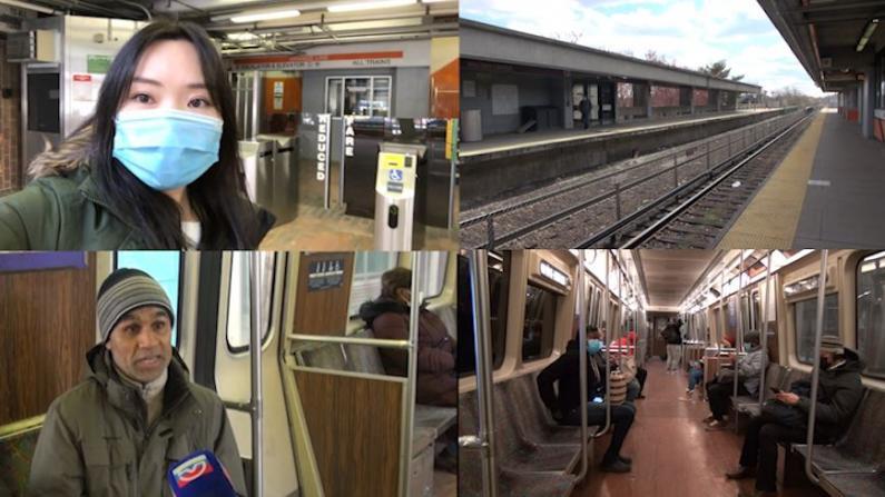 """【探访】""""怕,但不得不坐"""" 波士顿地铁载客量下降超90%"""