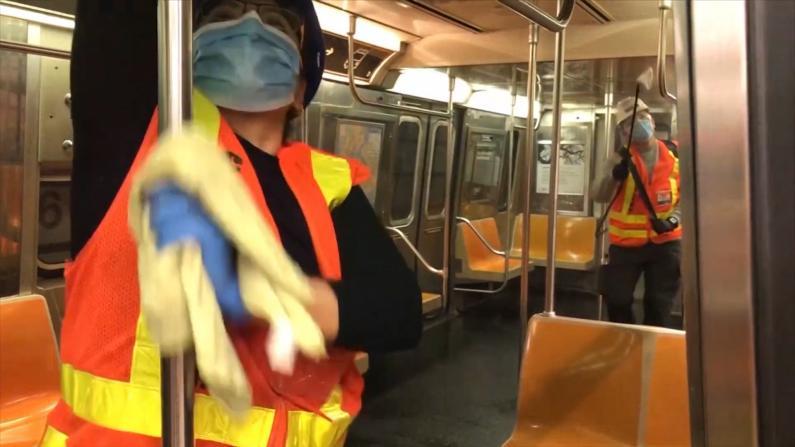 115年史上首次 5/6起纽约地铁凌晨全线停运消毒