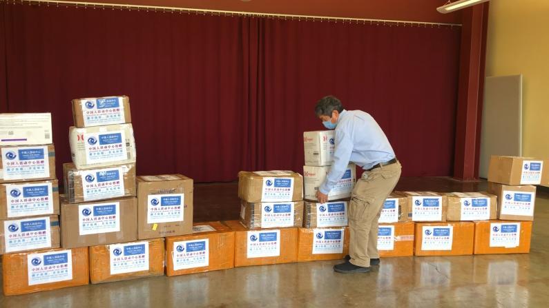 休斯敦26华社捐赠医疗物资 助力哈里斯郡政府抗击疫情