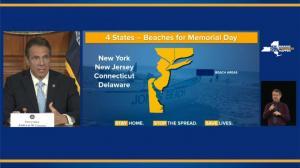 纽约州长宣布国殇日开放海滩 这些规定须遵守
