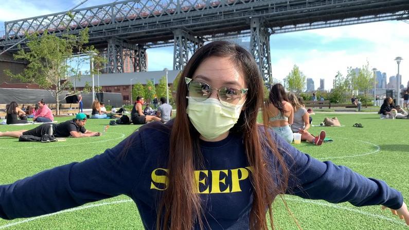 """【实地探访】画""""圈""""为""""牢""""是否会成为纽约市公园新常态?"""
