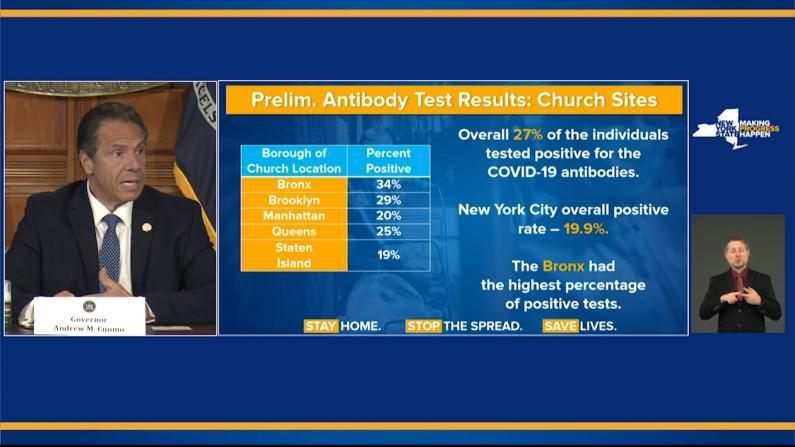 纽约州长:多数新病例来自低收入社区和有色人种