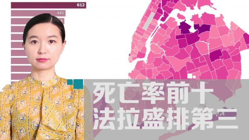 【详解】纽约市死亡率前十法拉盛排第三