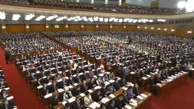 王晨作中国全国人代会涉港决定草案的说明