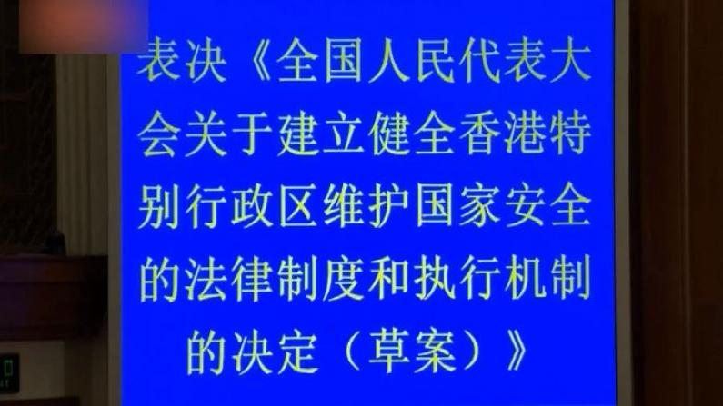 全美各地华人支持涉港国安立法