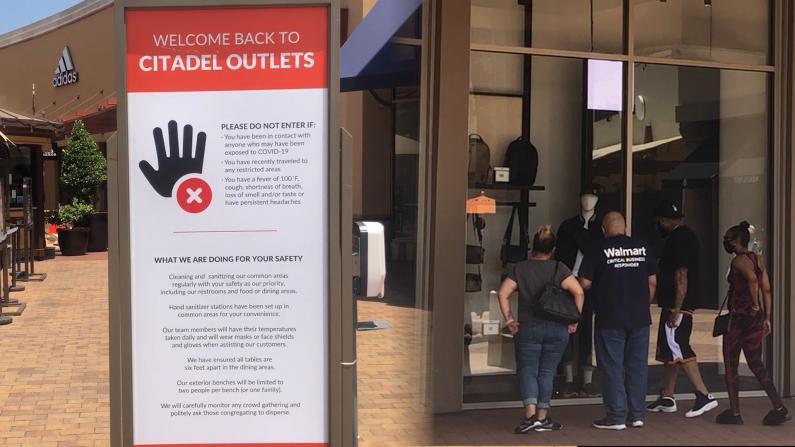 【实拍】洛杉矶重启零售业 奥特莱斯首日重开客流稀少