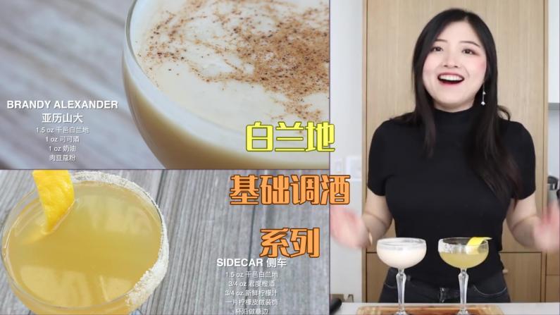 【索菲亚一斤半】白兰地怎么喝?零基础家庭调酒系列
