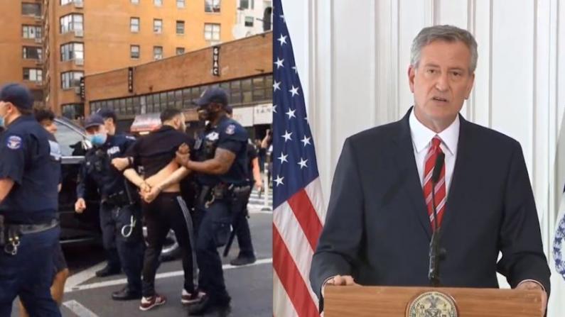 纽约反暴力执法抗议逮捕80人 市长:请和平表达愤怒
