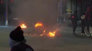 街头纵火打砸抢 洛杉矶市中心骚乱升级