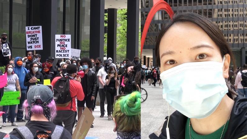 【现场】芝加哥上千抗议者占领联邦广场