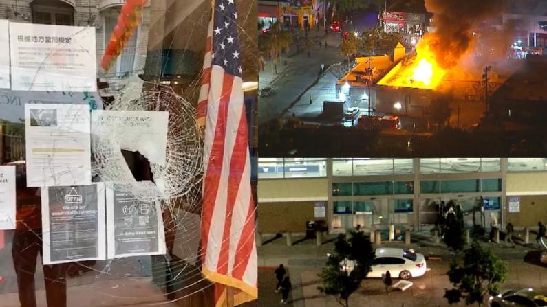 【现场】加州多地暴乱升级 旧金山华埠商家讲述一夜惊恐